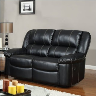 how to buy black leather sofa online black leather reclining sofa