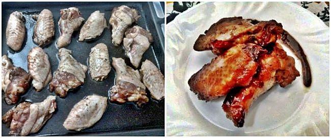 Preparación de las alitas de pollo con salsa de soja
