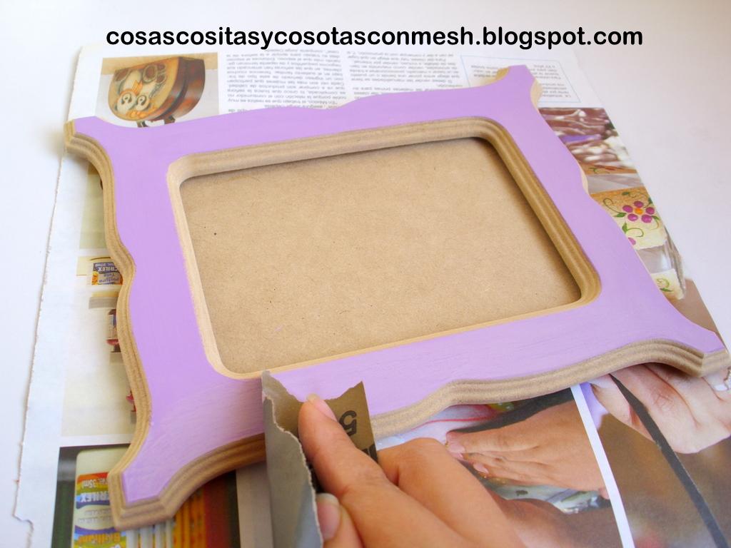 Como decorar un portaretrato de madera cositasconmesh - Como decorar un joyero de madera ...