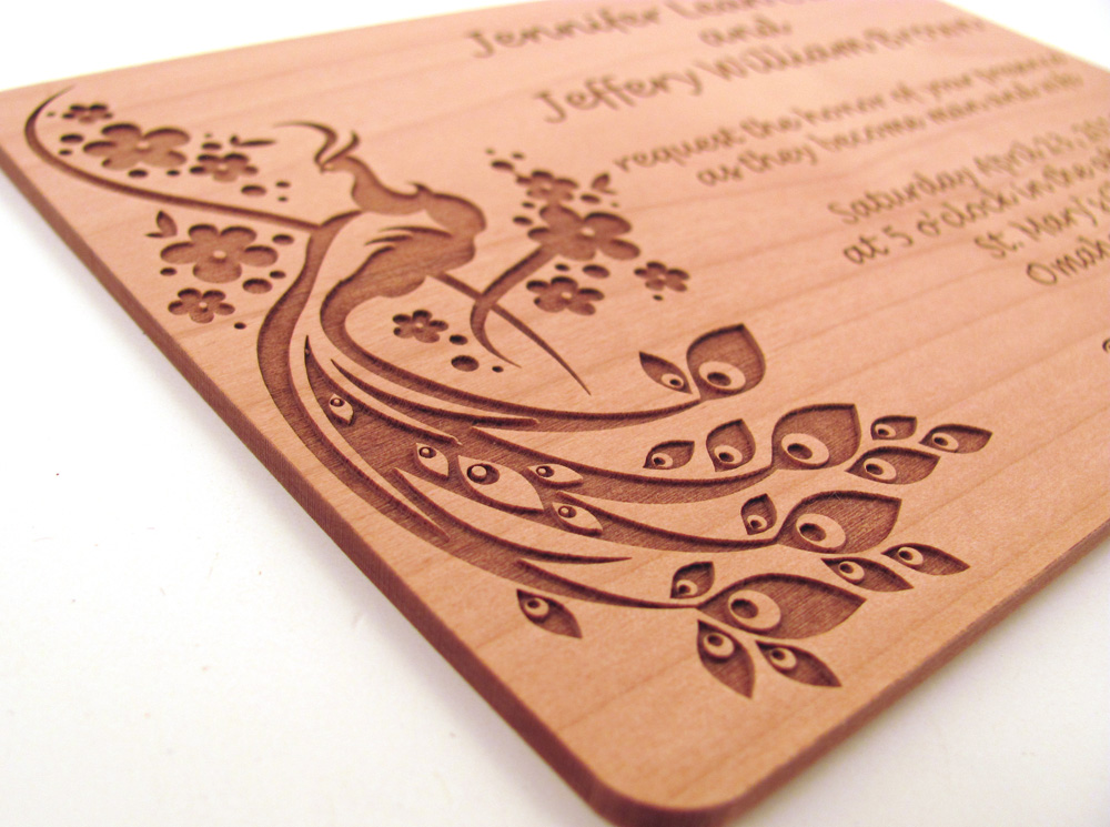 Memories For Life New Wooden Wedding Invitations