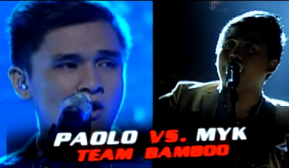 Paolo Onesa and Myk Perez - Team Bamboo of The Voice of the Philippines