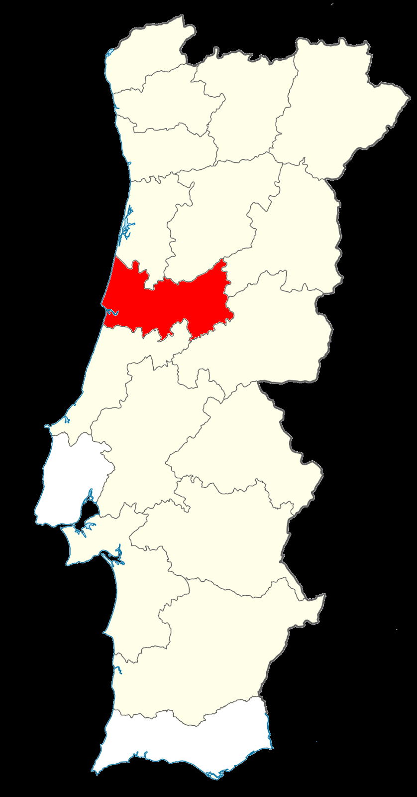 http://en.wikipedia.org/wiki/Districts_of_Portugal