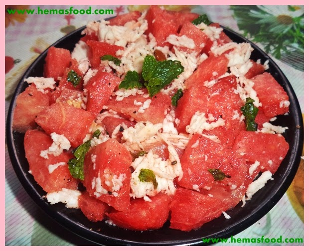 Watermelon Coconut Salad