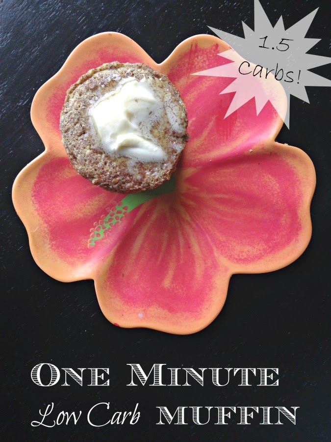 low carb bread, one minute muffin, low carb recipe