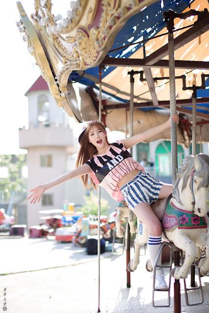 5 Han Ga Eun - Outdoors Photo Shoot At Yongma Land - very cute asian girl-girlcute4u.blogspot.com