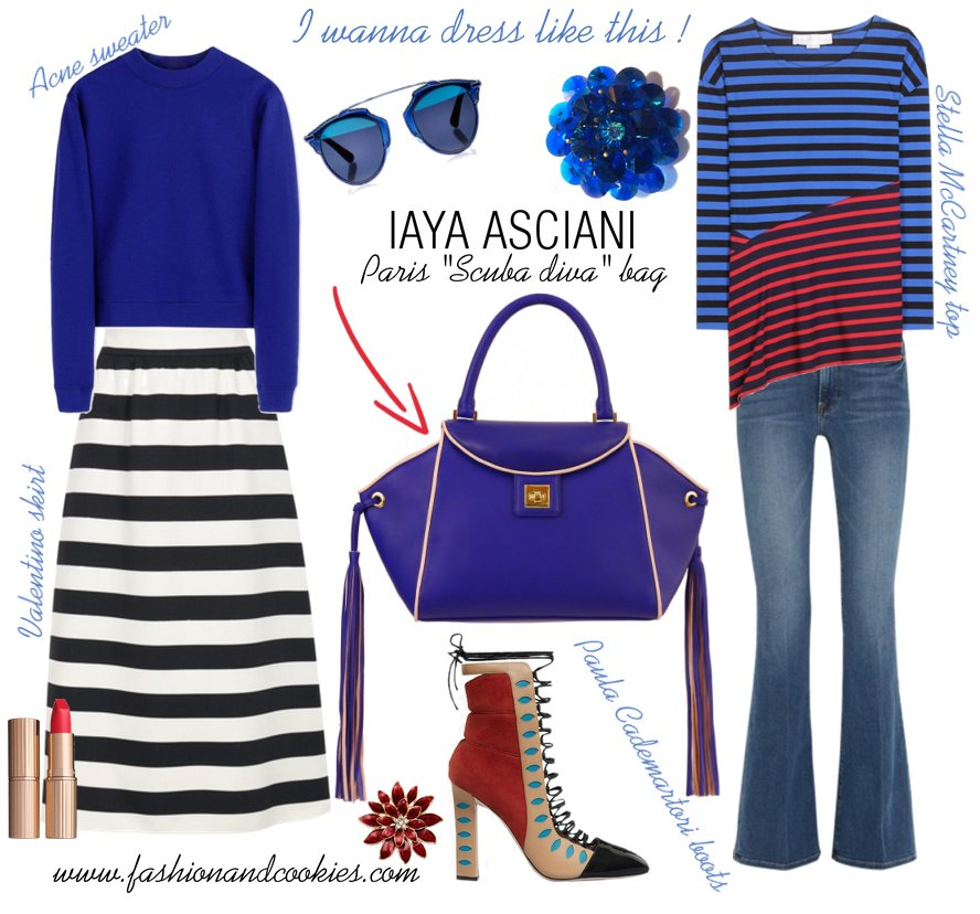 Iaya Asciani Paris scuba diva bag on Fashion and Cookies fashion blog, fashion blogger style, fashion wishlist