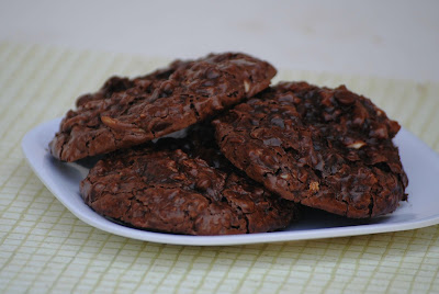 Flourless Chocolate Almond Coconut Cookies