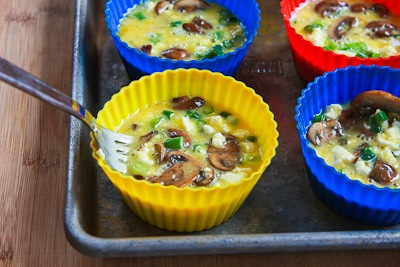 ... ®: Baked Mini-Frittata with Mushrooms, Cottage Cheese, and Feta