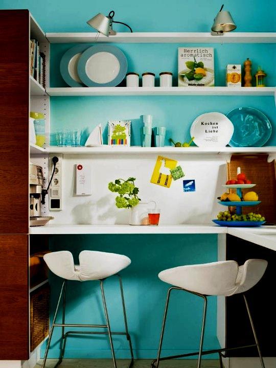Cozinha cia vamos de azul turquesa na cozinha for Blue sky kitchen designs