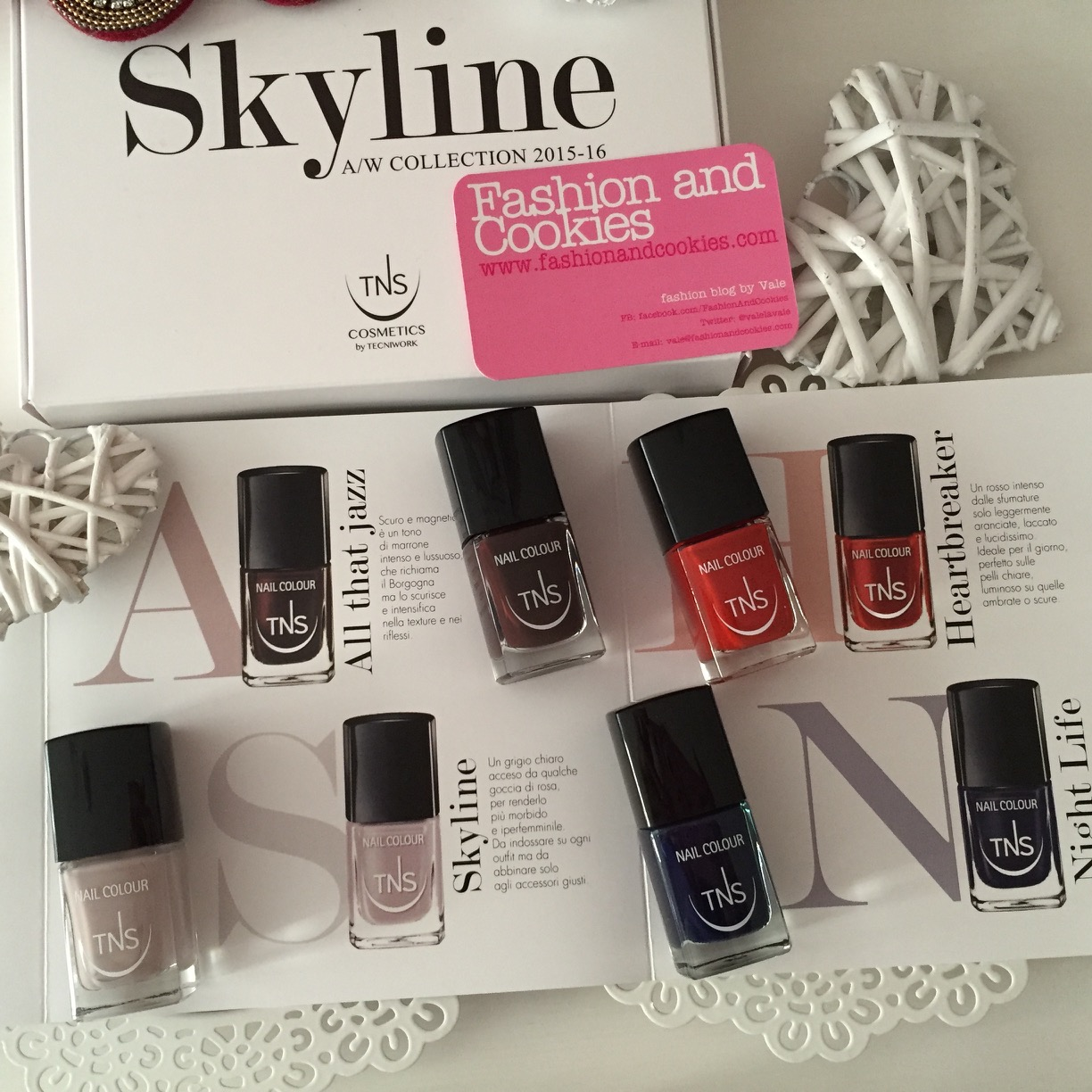 Skyline Collection, four nail polish shades by TNS Cosmetics on Fashion and Cookies beauty blog, beauty blogger