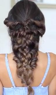 Mermaid Braid Hairstyle Tutorial