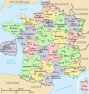 Gambar peta Prancis