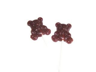 Brown Coffee Teddy Bear Lollipops by BlueBarnHillSweets
