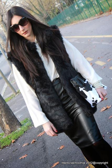 fashionblog, fashionblogger, skirt, gilet, gonna, gonnapelle, borsa, borsa burberry prorsum, fashion blog