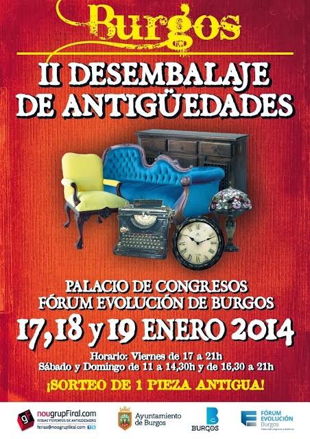 II feria de desembalaje de antigüedades de Burgos.