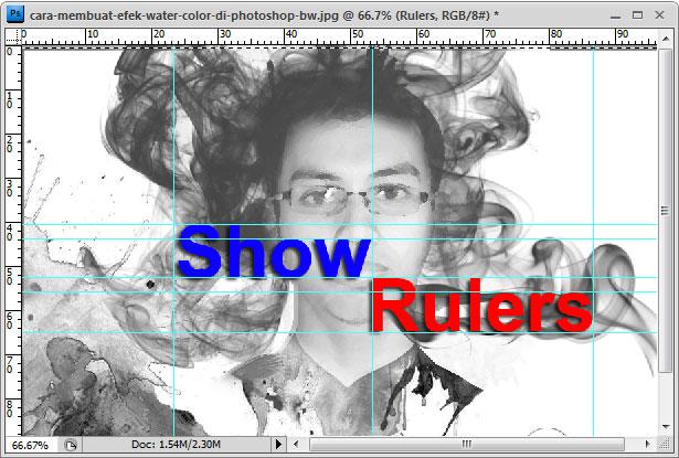 Cara menampilkan dan mengatur ruler di photoshop