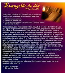 EVANGELHO DO DIA - JANEIRO 2019