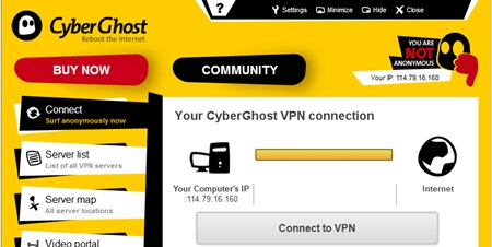 software CyberGhost VPN gratis