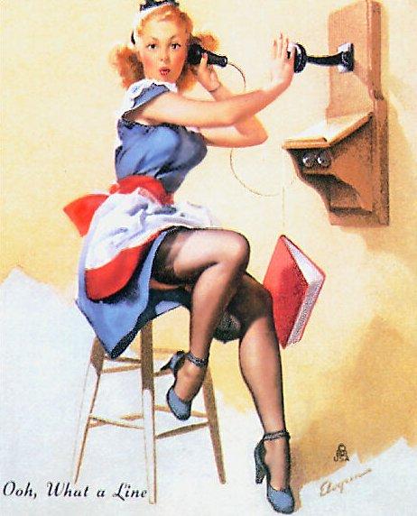 valentines day finger meme - Pin up Girl Gil Elvgren 1940 s Pin Up Girls