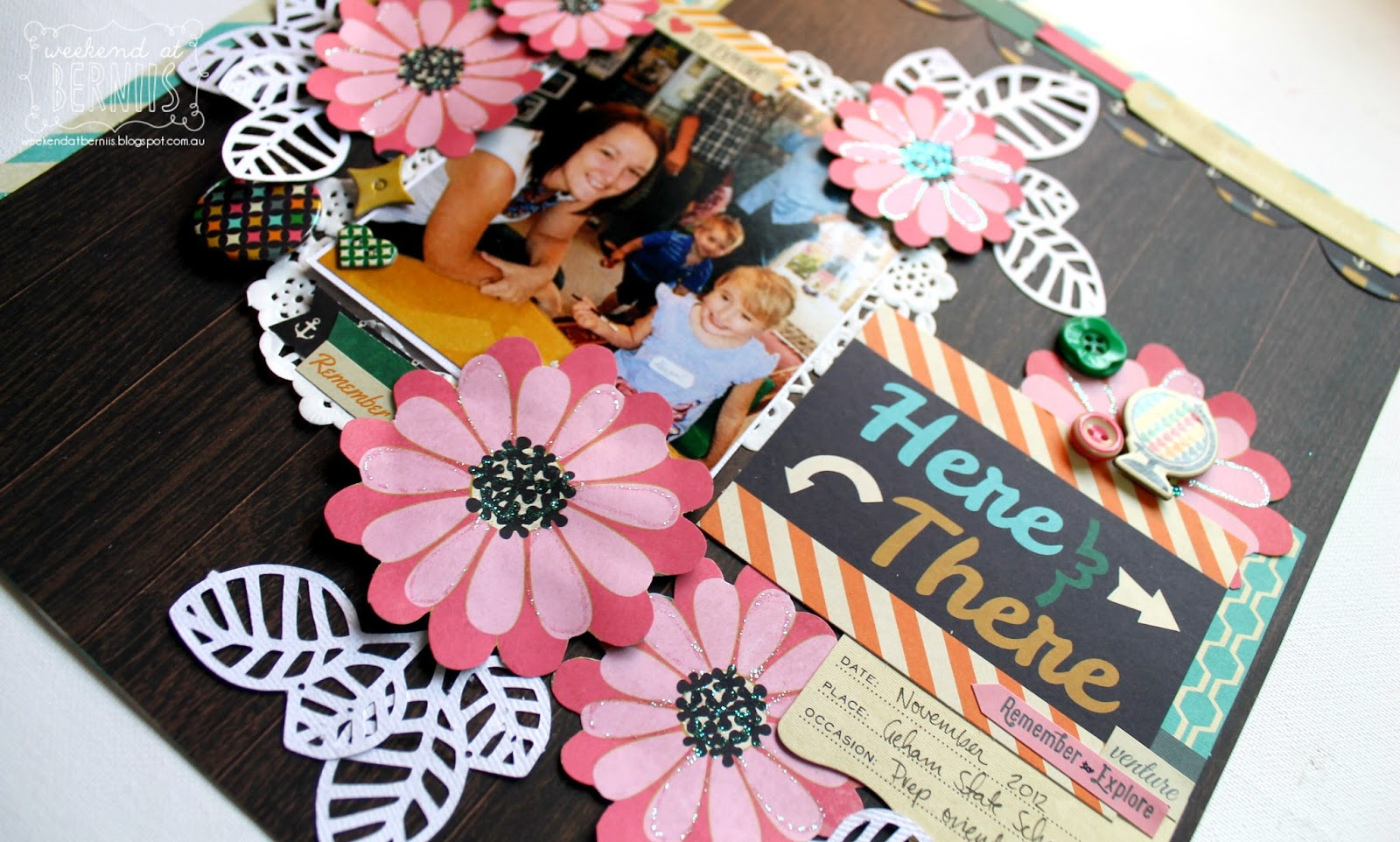 Here and There layout by Bernii Miller using the Fancy Pants As you wish collection