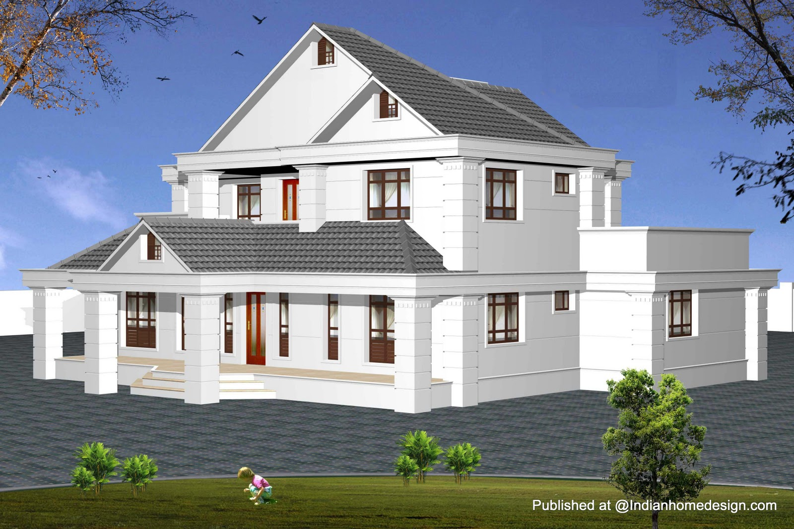 House exterior design india joy studio design gallery for Fachadas de casas de 2 pisos