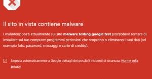 La navigazione sicura in chrome blocca i siti di download pericolosi - Bloccare apertura finestre chrome ...