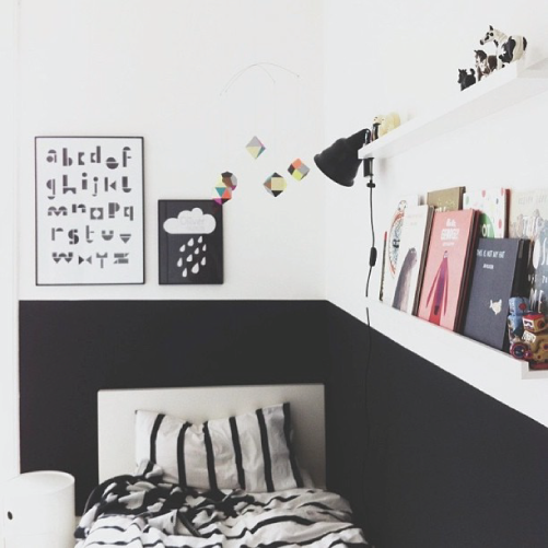 5 Reasons To Put Shiplap Walls In Every Room: The Plumed Nest: Kids Room B+W