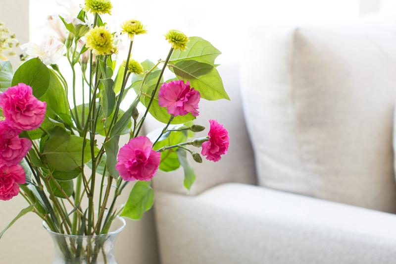 summer flowers, interior design