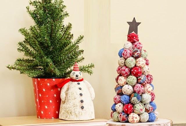 DIY, Arbol de Navidad con Tela