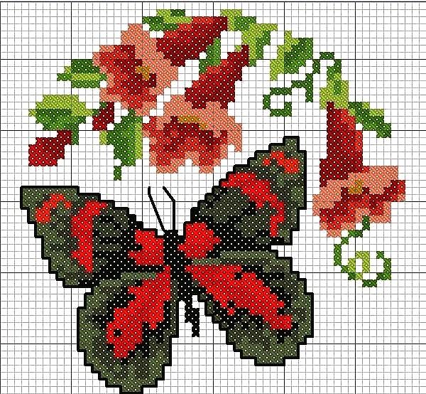 Grande raccolta di schemi e grafici per punto croce free for Farfalle punto croce schemi gratis