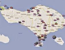 Karta över Bali
