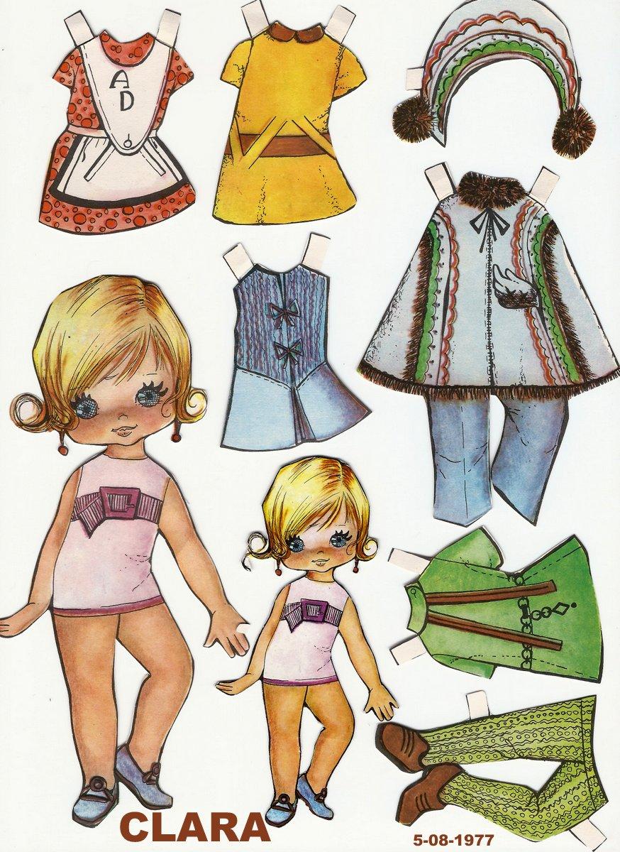 Как сделать куклу из бумаги, бумажные куклы с одеждой 837