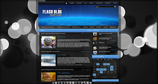 Free Full Flash Blog Template