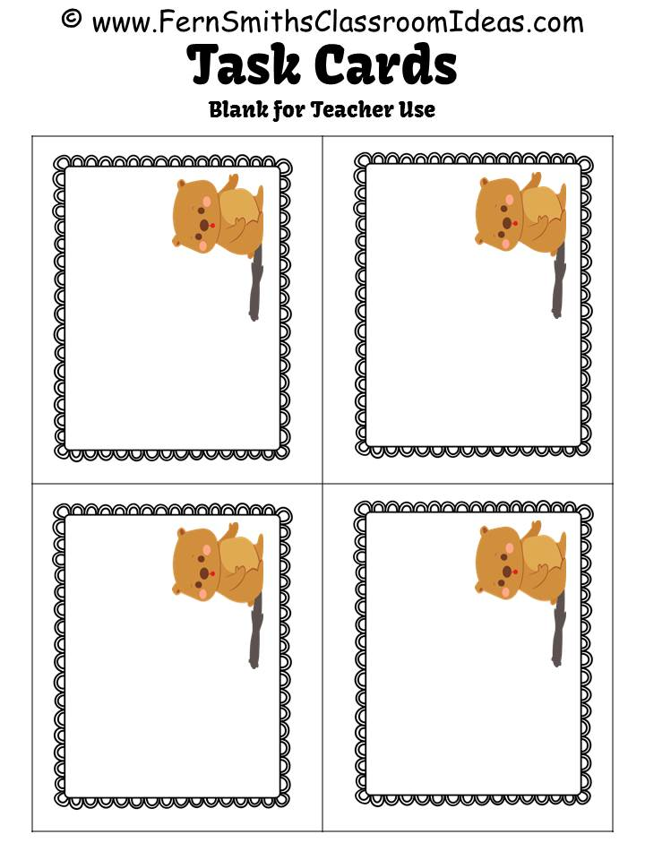 FREE Adjective or Adverb Groundhog Day Themed Task Cards!