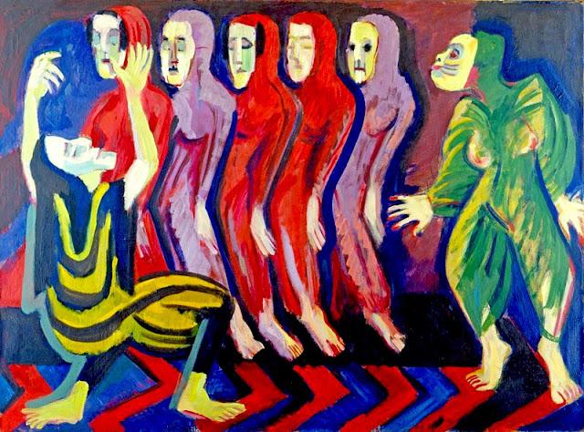 Kirchner, Totentanz, Mary Wigman, 1926-8