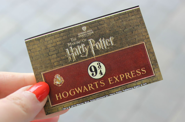 A ticket for the Hogwarts Express at Platform 9 3/4