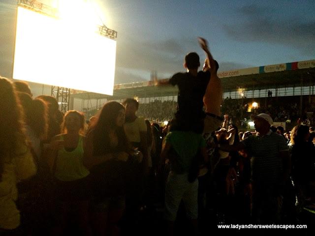 crowd during Justin Bieber's Believe concert in Dubai