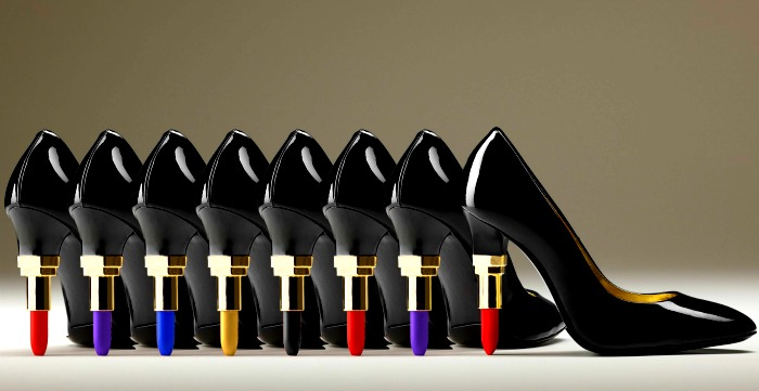 (4) different shoes lipstick-heel-feel-y