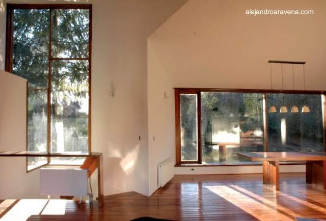 Vista interior de la Casa Pirehueico
