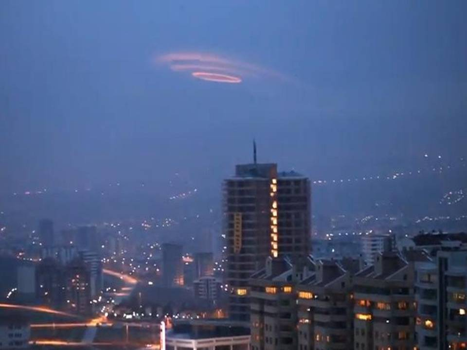 Strange ufo shaped spiral cloud was recorded above ankara turkey on