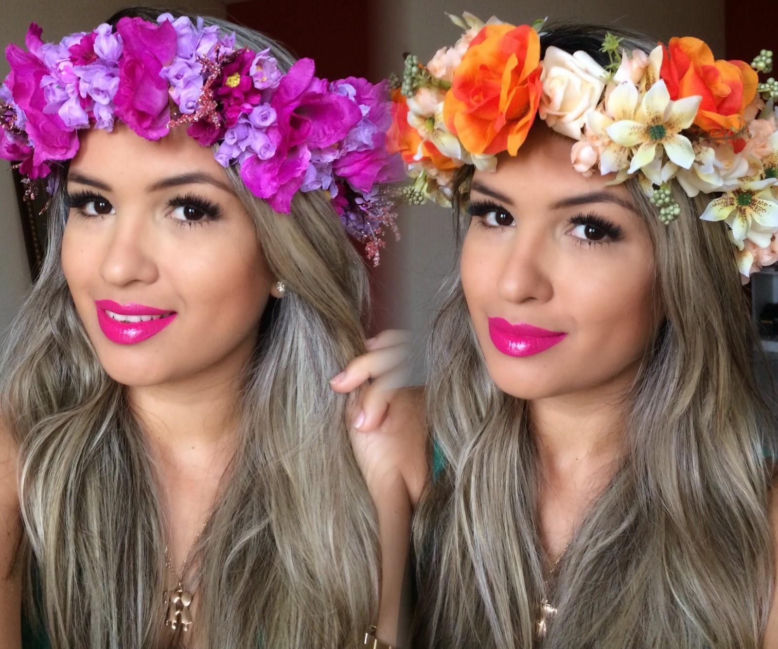 Well-known Blog da Mayara: Como fazer Coroa de Flores ER03