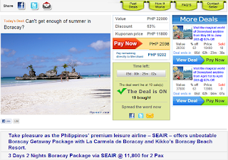 SEAIR Boracay Package