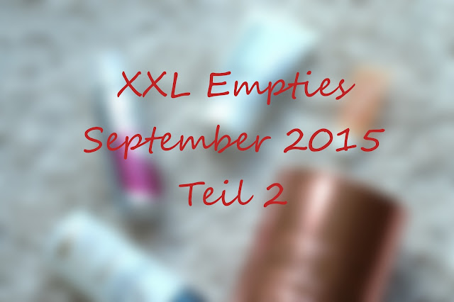 XXXL Empties September 2015