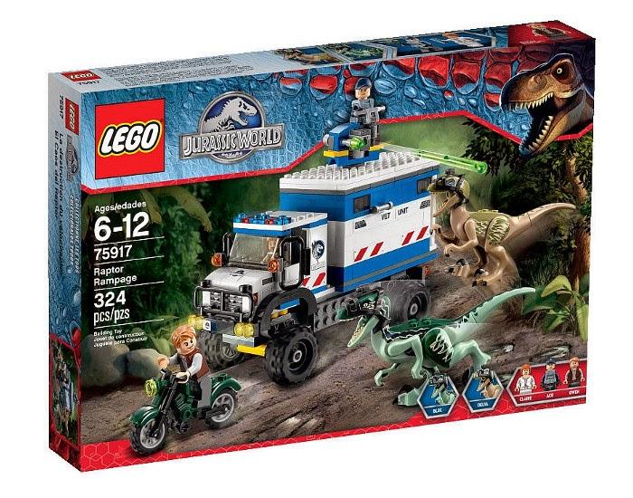 JUGUETES - LEGO Jurassic World  75917 El Caos del Velociraptor  Raptor Rampage  Producto Oficial Película 2015 | Piezas: 324 | Edad: 6-12 años