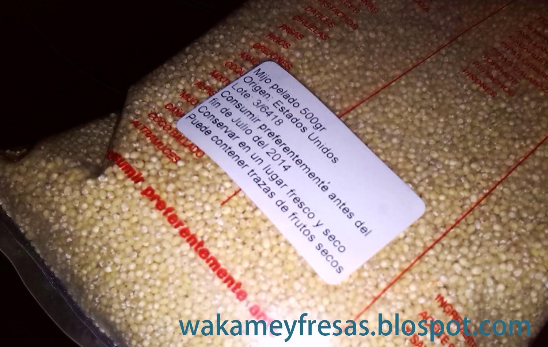bolsa de 500 gramos de mijo pelado