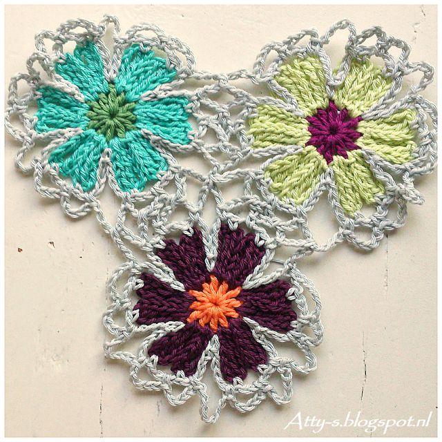 Foto Tutorial + Video: Chal de Flores a Crochet