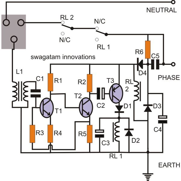 Make Simple Earth Leakage Circuit on 12 volt relay switch wiring diagram