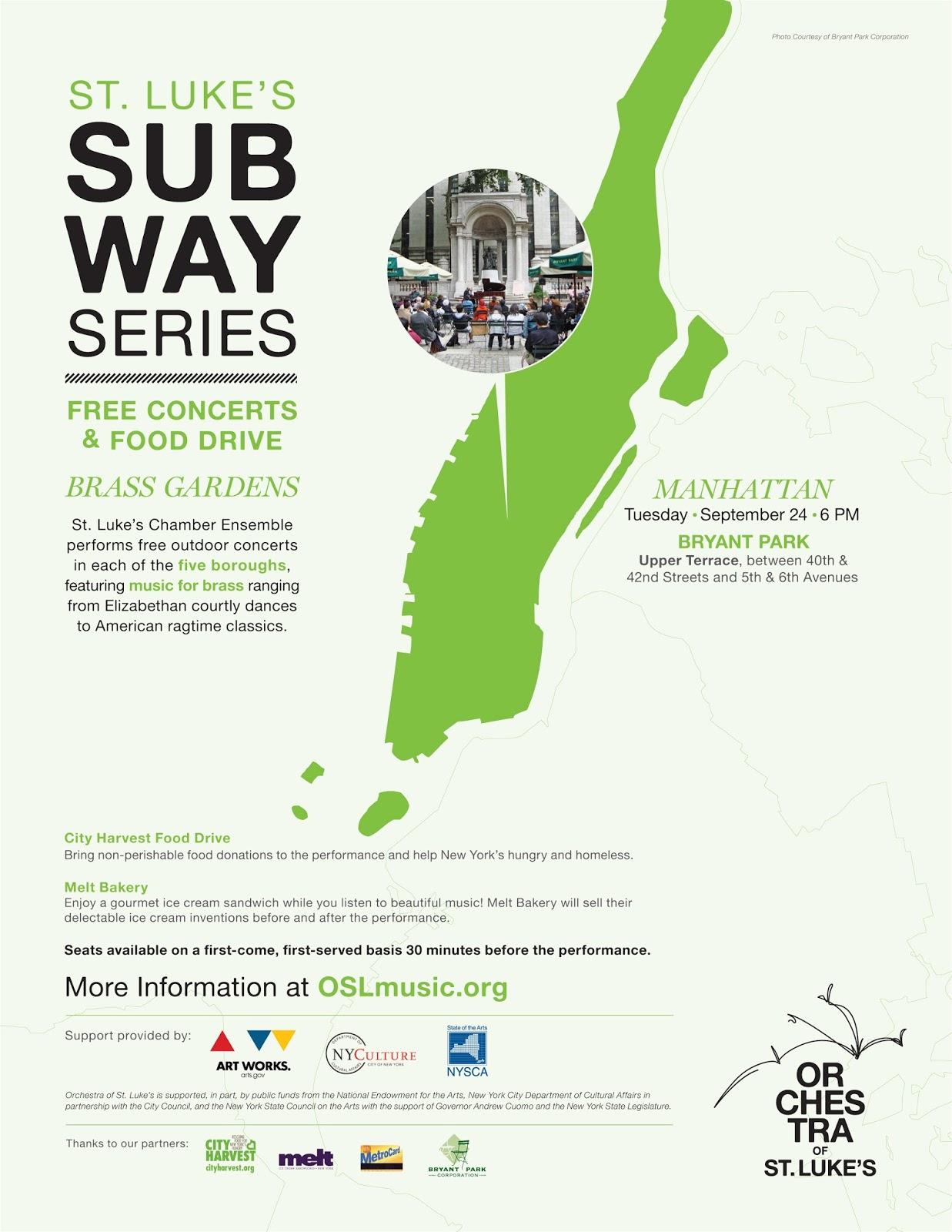 Bryant Park Subway Map.Bryant Park Blog St Luke S Subway Series Makes Bryant Park Their