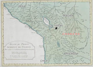 Charcas South America, map
