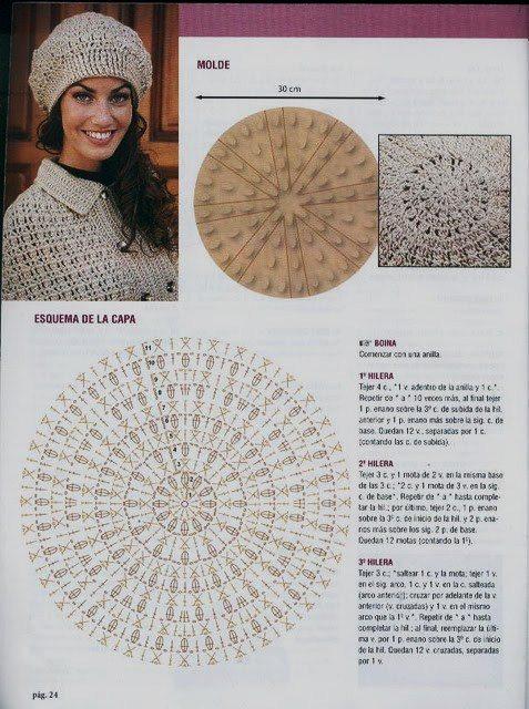 Noire Crafts: Patron Boina Crochet